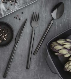 The Tvis collection is a striking selection of cutlery guaranteed to catch the eye of anyone looking. The inspiration comes from a strict… Monaco, Hotel Restaurant, Broste Copenhagen, Cutlery, The Selection, Tableware, Instagram Posts, Kitchen, Gmail