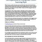 Free Download to help you find your child's particular learning style....
