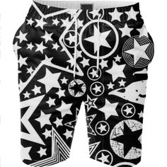 Shop STARRY STARRY NIGHTS 2 Summer Short by THE GRIFFIN PASSANT STREETWEAR STREETWEAR | Print All Over Me