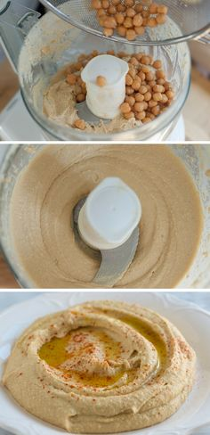 How to make our Easy Hummus Recipe with canned chickpeas, garlic, tahini and olive oil. I love hummus Easy Hummus Recipe, Hummus Recipe Nutribullet, Olive Hummus Recipe, Hummus Recipe Peanut Butter, Garlic Free Hummus Recipe, Humas Recipe, Recipes With Hummus, Lebanese Hummus Recipe, Whole Food Recipes