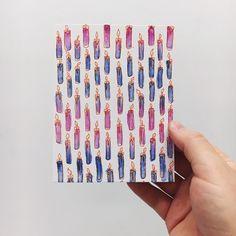 New! Letterpress printed Hanukkah A2 card.