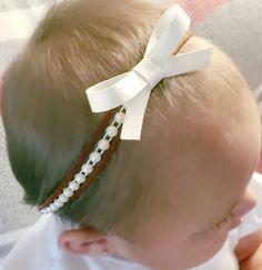 Half Pearl Headband Baby Bow Headband Newborn Headband