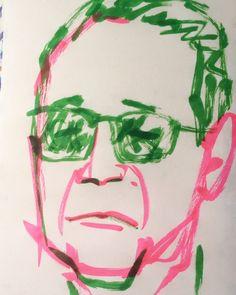 いいね!13件、コメント1件 ― @1mindrawのInstagramアカウント: 「#1mindraw #tamori #タモリ #タモさん #森田一義 #イグアナ #ハナモゲラ #19450822 #birthday #誕生日 #portrait #筆ペン画」