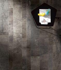 Daltile - Porcelain color body tile, major color variation from tile to tile. Looks beautiful in & in random staggered brickwork, with light grout. Looks like stone. Concrete Look Tile, Stained Concrete, Ceramic Floor Tiles, Porcelain Tile, Floor Patterns, Tile Patterns, Dal Tile, Bedroom Flooring, Carpet Flooring
