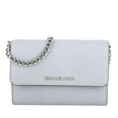 Michael Kors Tasche – Jet Set Travel LG Phone Crossbody Dove – in grau – Umhängetasche für Damen