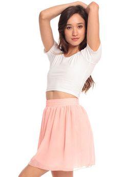 american apparel skirt, so cute