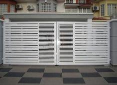 House Main Gates Design, Grill Gate Design, Steel Gate Design, Front Gate Design, Door Gate Design, Fence Design, Iron Gates, Iron Doors, White Stairs