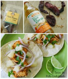 Deviled Chicken Tacos from Nibbles & Feasts. Yummy!