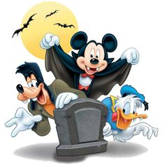 Mickey Mouse and friends halloween clipart_1.png (320×320)