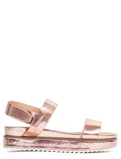 SUPERNOVA ROSE GOLD FLATFORM SANDALS - What's New? - LAMODA