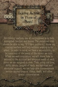This applies to Compassionate Service in any area of life.  -Penny-