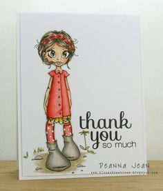 thank you one layer card by Deanna Jean
