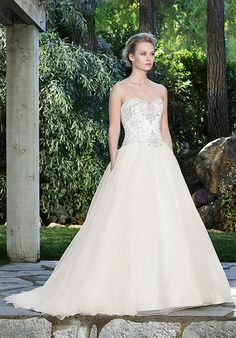 Casablanca Bridal strapless ball gown with sweetheart neckline, beaded bodice, and organza skirt I Style: 2249 Marigold I https://www.theknot.com/fashion/2249-marigold-casablanca-bridal-wedding-dress?utm_source=pinterest.com&utm_medium=social&utm_content=july2016&utm_campaign=beauty-fashion&utm_simplereach=?sr_share=pinterest
