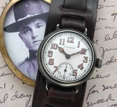 Men's 1915 Waltham Sterling Silver Trench Watch | Strickland Vintage Watches