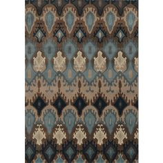 Old World Tribal Blue/ Stone Polypropylene Rug (7'10 x 10'10) | Overstock.com Shopping - The Best Deals on 7x9 - 10x14 Rugs