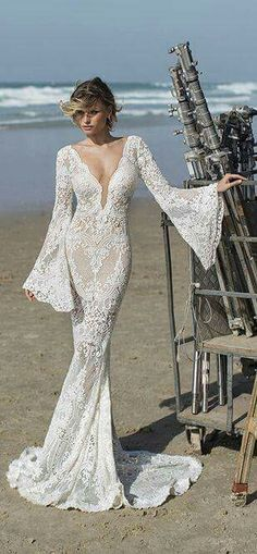 If you love a long sleeve haute couture wedding dress but it is out of your price range then we can help. We are American dress makers who produce custom #weddingdresses & replicas of couture bridal gown designs for less than the original. We can work from any photo you have. Get pricing and details by contacting us at www.dariuscordell.com