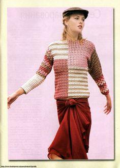 44a - Inspirações de Croche com Any Lucy: Blusa