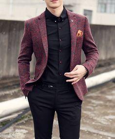 s cotton & wool casual blazer mens suit - Blazer Outfits Men, Mens Fashion Blazer, Preppy Mens Fashion, Indian Men Fashion, Casual Blazer, Suit Fashion, Fashion Photo, Fashion Rings, Blazers For Men Casual
