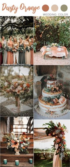 sunset dusty orange wedding color ideas and trends for 2019