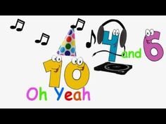 The friends of 10 A song to help children remember addition facts of TheOriginalPrep School Songs, Math School, School Fun, School Ideas, Math For Kids, Fun Math, Math Activities, Maths, Math Addition