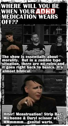 I don't even care that they spelled Hitler wrong here...this perfectly encapsulates the crazy that was Marilyn Manson's train of thought on Talking Dead.