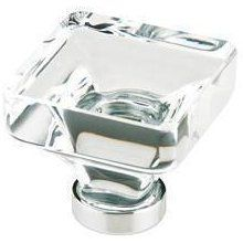 Emtek Lido Square Crystal Cabinet Knob In French Antique   GoingKnobs
