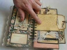 A Vintage Ladies' Diary Mini Album - Graphic 45 paper Ladies' Diary gorgeous papers