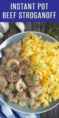 Creamy And Easy Instant Pot Beef Strogranoff Recipe Perfect Dinner Recipe For Busy Weekdays Tons Of Instant Pot Recipes At Beef Recipes, Cooking Recipes, Healthy Recipes, Cheap Recipes, Pasta Recipes, Chicken Recipes, Ninja Recipes, Whole30 Recipes, Bon Appetit