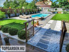 Modern kert, kerti medence Dream Garden, Home And Garden, Garden Design, House Design, Painting Concrete, Pool Houses, Succulents Garden, Yard Landscaping, Beautiful Gardens