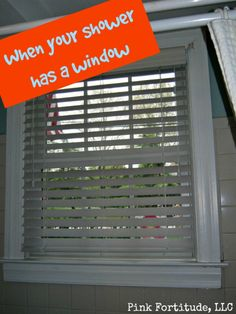 Charmant When Your Shower Has A Window By Coconutheadsurvivorguide.com Featuring  Smith U0026 Noble Durawood Blinds