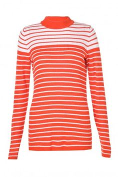 Tay New Stripe Top in Grenadine Next Day, Stripe Top, Knitwear, Turtle Neck, Stripes, Valentines, Park, Learning, Sweaters