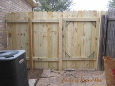 How to repair/build a fence and gate. complete tutorial with pictures at www.houseofhepworths.com