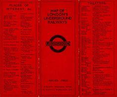 MAP: LONDON UNDERGROUND *Map of London's Underground Railways*