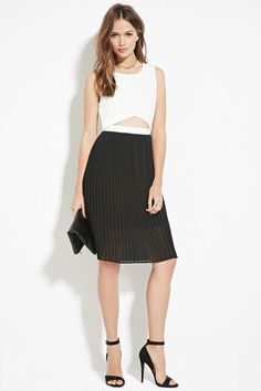 Contemporary Combo Dress | LOVE21 #f21contemporary