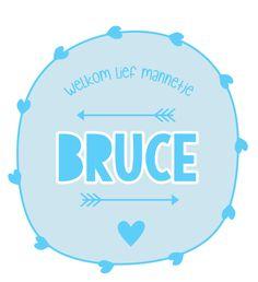 Geboortesticker full colour type Bruce