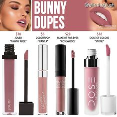 Kylie cosmetics liquid lipstick dupes in the shade Bunny \/\/ Kayy Dubb