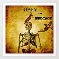 Open the Birdcage Art Print by ganech - $16.64