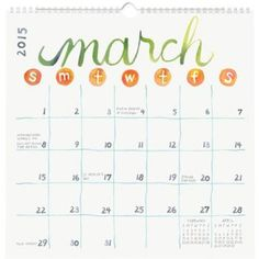 Playful and stylish, this monthly calendar is an organizational essential. Perfectly practical and pleasing all at once, you'll love turning to a colorful new page at the start of each month! Features