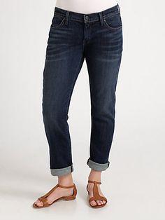 I love BF jeans. I know, they're not very flattering. James Jeans, Salon Z - Boyfriend Jeans - Saks.com