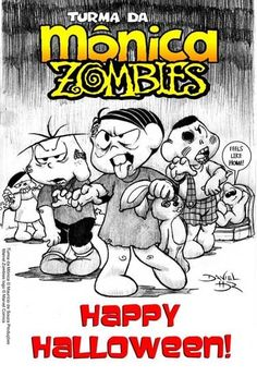 Turma da Monica zombies by Daniel hdr