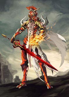 Crimson Fire Warrior
