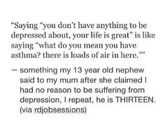 People need to realize that depression is a real disease