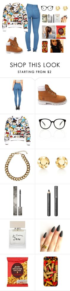 """""""Real Talk"""" by khella ❤ liked on Polyvore featuring Timberland, Forever 21, Club Manhattan, Elsa Peretti, Burberry, Bella Freud and Zero Gravity"""