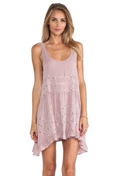Free People Trapeze Slip in Misty Pink Combo