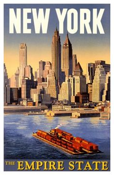 Retro Travel Posters - New York