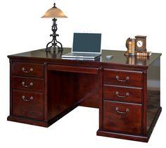 Martin Huntington Club Double Pedestal Executive Desk