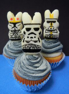 #PEEPS PeepTrooper cupcake toppers