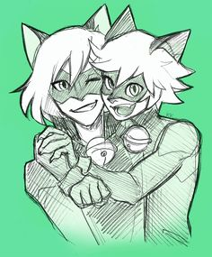 kellyykao: For Black Cat Day! <333 I like to think of Felix and Adrien as brothers :')