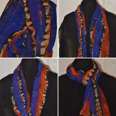 Chiffon Scarf, Silk Chiffon, Shibori, Decorative Items, Handmade Items, My Etsy Shop, How To Make, Accessories