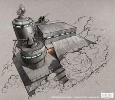 """Fantastic Concept Art from the """"Moon Nazi"""" Movie Iron Sky"""